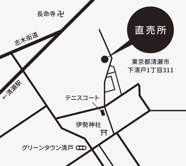 関ファーム 直売所 地図